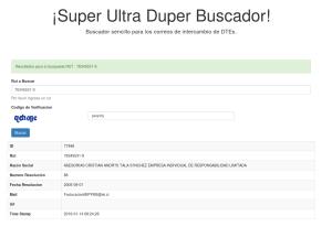 ¡Super Ultra Duper Buscador de DTEs!