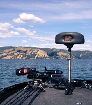 Trolling motor and rods