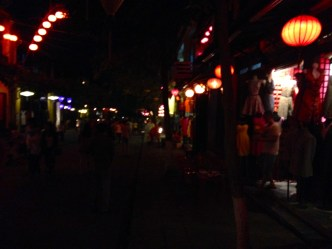 wandering Hoi An's old streets by night