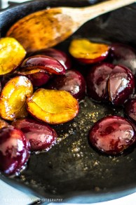 roasted plums