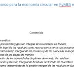 Regulación marco para la economía circular en PyMES en México y en Querétaro