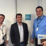 Ruy Gaspar e diretores da Azul