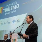 Ministro do Turismo, Henrique Alves crédito da foto fotógrafo Marcelo Freire, na abertura do Festival das Cataratas.