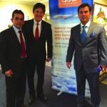 José Odécio, o governador do RN, Robinson Faria e o secretário de turismo do RN, Ruy Gaspar