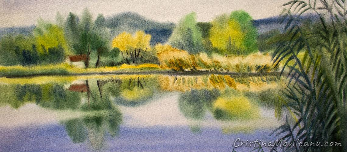Landscape watercolor header
