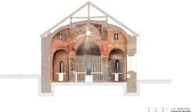 Salardu, church, vall d'aran, drawing, stones, well drawn, beautiful, precision, painted architectural section, patrimonio historico