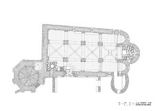 Salardu, church, vall d'aran, drawing, stones, well drawn, beautiful, precision, plan