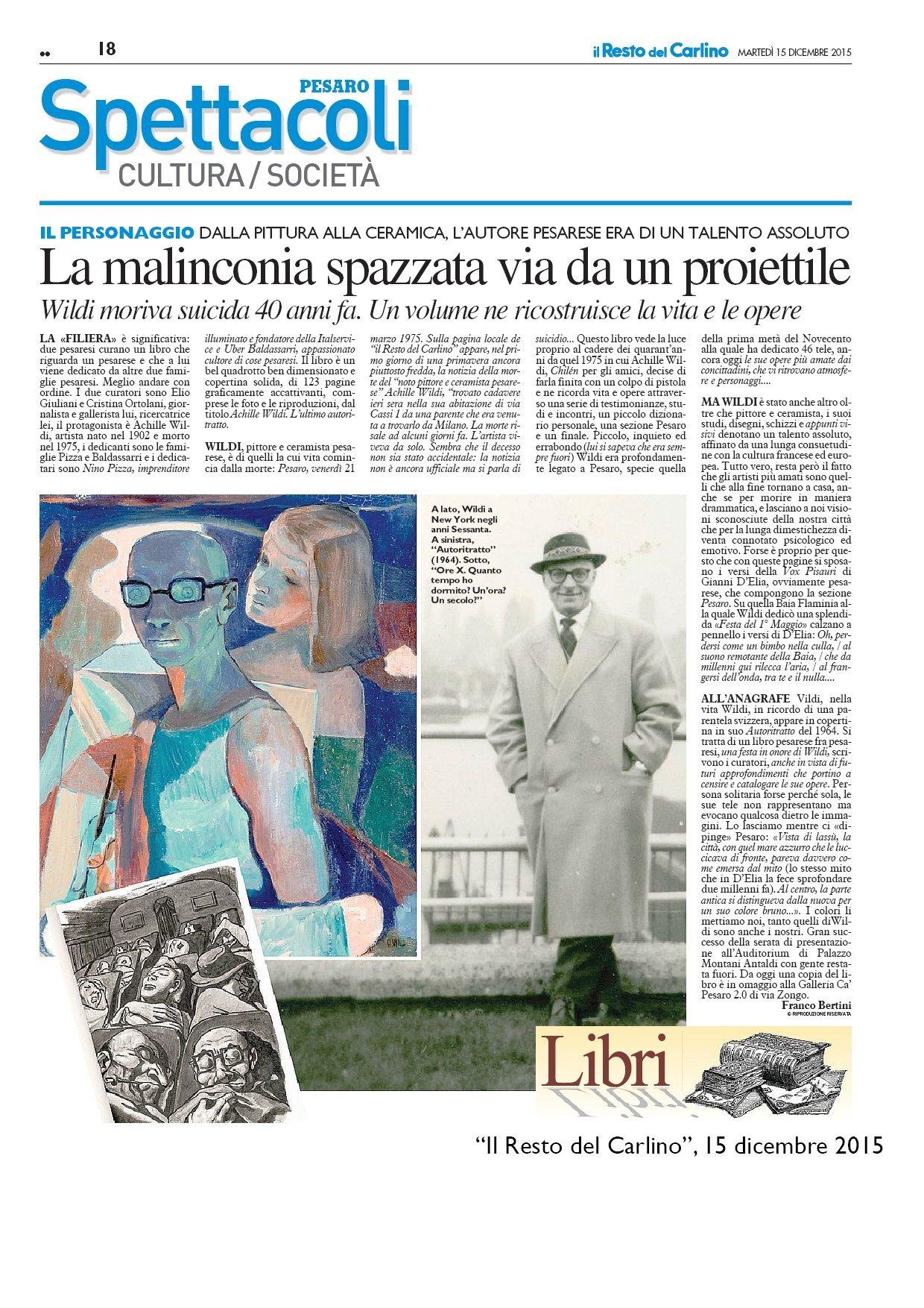 """""""Il Resto del Carlino"""", 15 dicembre 2015"""