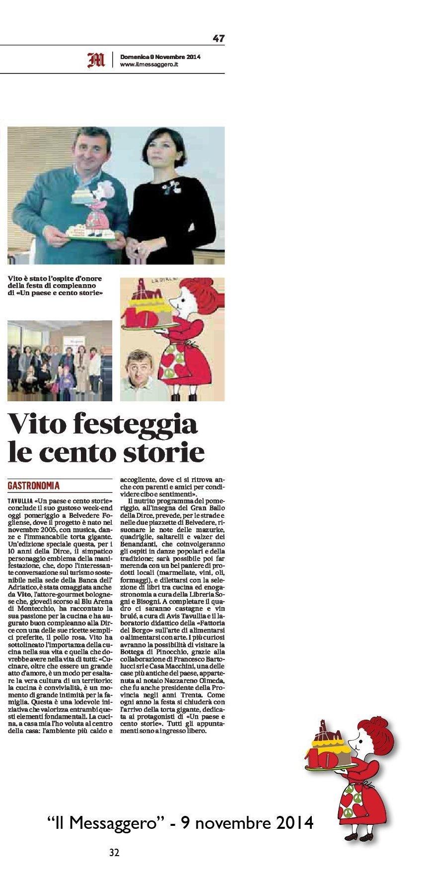 """""""Il Messaggero"""" Pesaro, 9 novembre 2014"""
