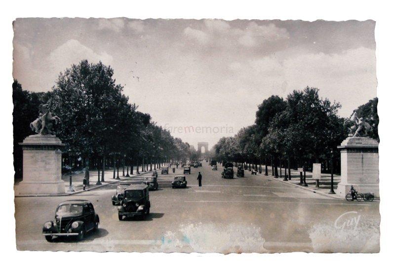 Parigi, 1949. Cartolina inviata da Prima Paganelli a Emilia Barbanti Badioli