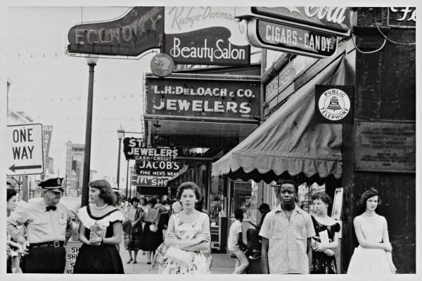 Robert Frank (U.S.A., b. Switzerland, 1924), Main Street -- Savannah, Georgia, 1955. Gelatin silver print.