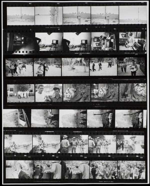 Contact Sheet from The Americans 1955-6; printed 1970s.
