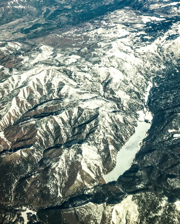 Colorado's mountains from the air