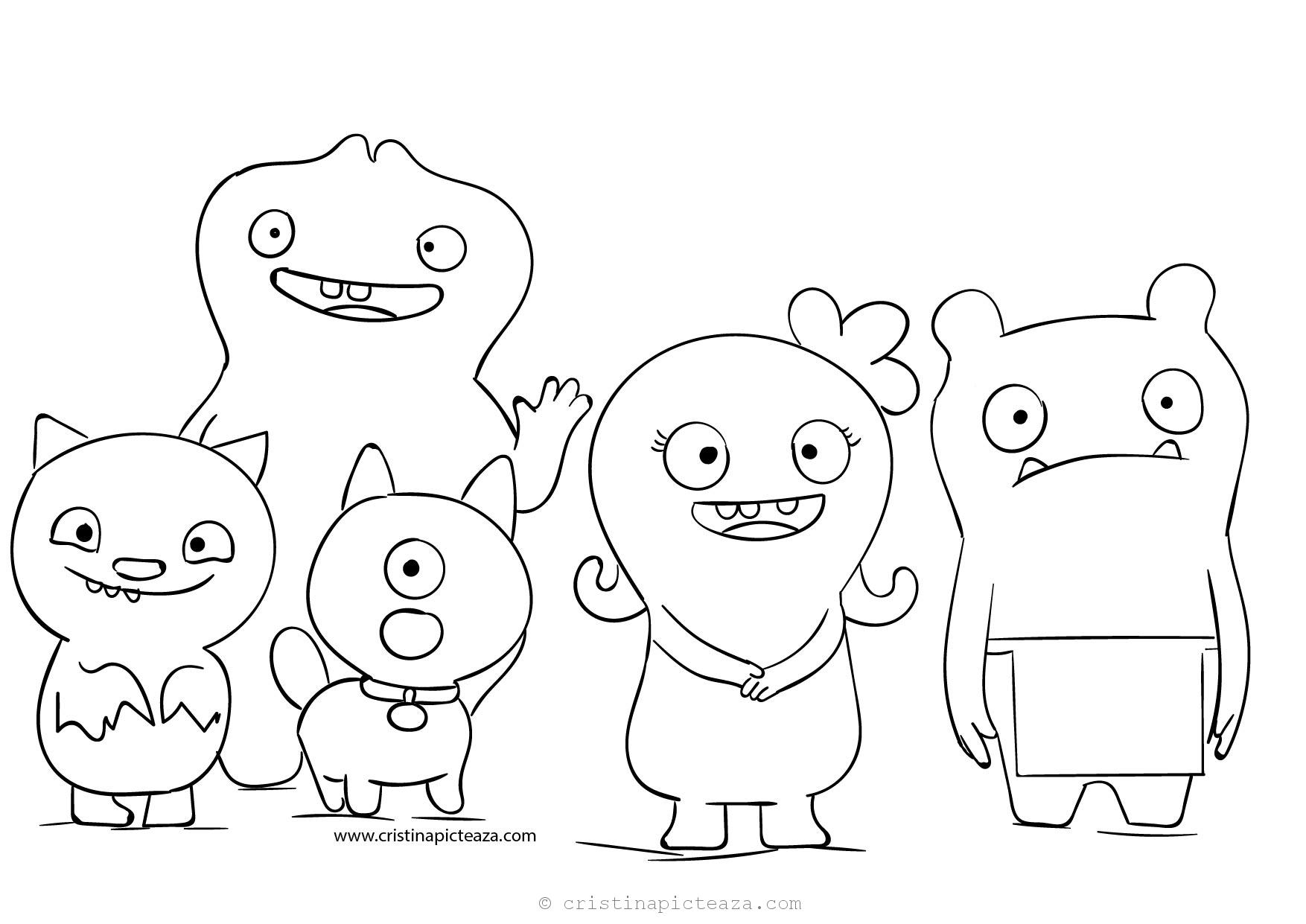 Ugly Dolls Coloring Pages Download Uglydolls For Coloring