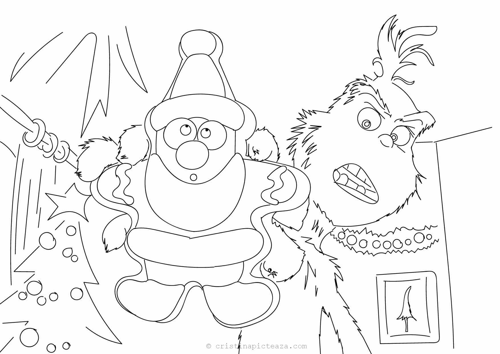 The Grinch Coloring Pages Drawings Sheets With Grinch