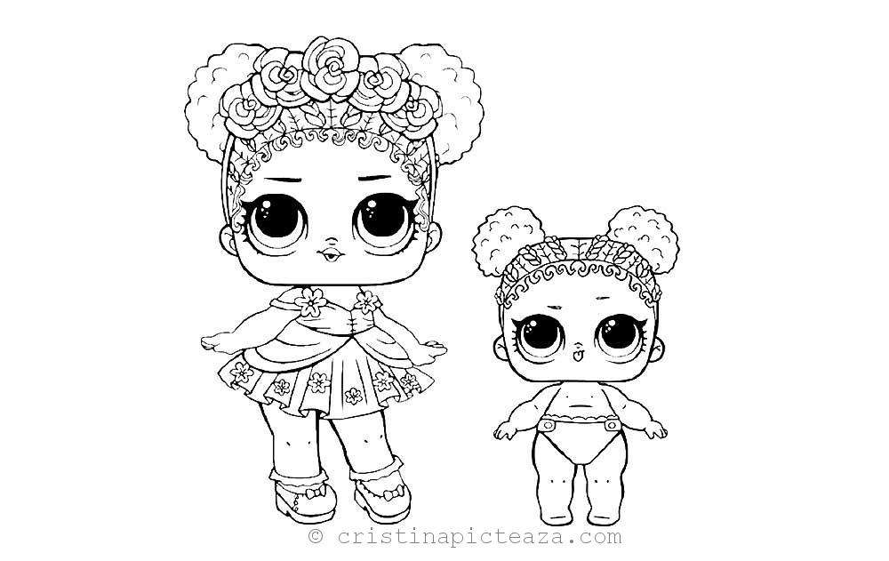 Lol Lil Sisters Coloring Pages Free Download Pages