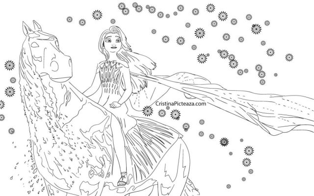 Elsa Coloring pages - Elsa from Frozen 30 – Cristina is Painting