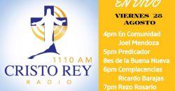 CRR En VivoLun 28 Agosto 4pm a 8pm