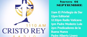 Cristo REy Radio EnVivo Viern 01 Sept 11am a 3pm