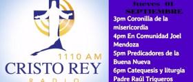 Cristo Rey Radio EnVivo Viern 01 Sept 3pm a 7pm