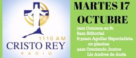 Cristo Rey Radio En Vivo Martes 17 Octubre 7am a 11am