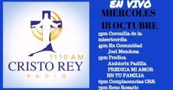 Cristo Rey Radio En Vivo Martes 17 Octubre 3pm a 7pm