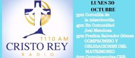 Cristo Rey Radio En Vivo Lunes 30  Octubre 3Pm a 7pm