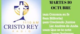 Cristo Rey Radio En Vivo Martes 10 Octubre 7am a 11am