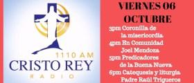 Cristo Rey Radio En Vivo Viernes 6 Oct 3pm a 7pm