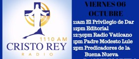 Cristo Rey Radio En Vivo Viernes 6 Oct 11am