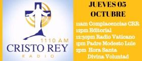 Cristo ReyRadio En Vivo 5 Octubre 11am a 3pm