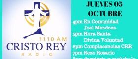 Cristo Rey Radio En Vivo Jueves 5 Octubre 3pm a 7pm