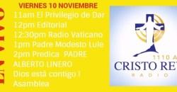 Cristo Rey Radio En Vivo Viernes 10 Noviembre 11am a 3pm
