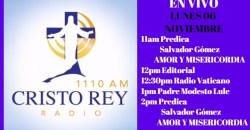 Cristo Rey Radio En Vivo Lunes 06 Noviembre 11am a 3pm