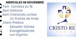 Cristo Rey Radio En Vivo Miércoles 8 Noviembre 7am a 11am