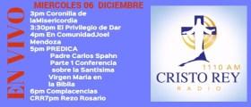 Cristo Rey Radio En Vivo Miércoles 06 Diciembre 3pm a 7pm