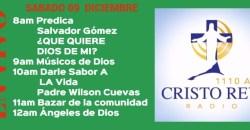 Cristo Rey Radio En Vivo Sabado 09 Diciembre 8am a 12pm