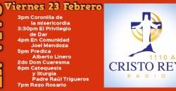 Cristo Rey Radio En Vivo  Viern 23 Febrero o 3pm a 7pm