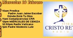 Cristo Rey Radio En Vivo  miércoles 28 Febrero 10AM A 2PM