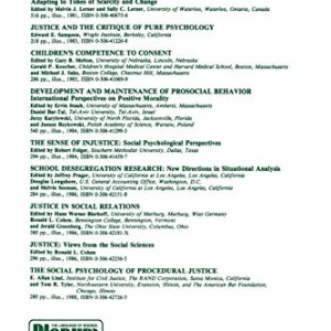 New Directions in the Study of Justice, Law, and Social Control (Critical Issues in Social Justice)