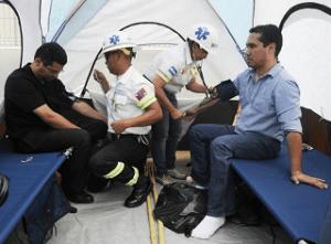 Ariel Varela y Miguel Briceño,  durante la huelga de hambre.