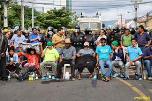 La huelga de hambre será fortalecida en las  próximas horas con la adhesión de campesinos de Zacate Grande.