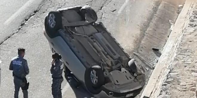 Un lesionado tras volcadura sobre la Pachuca-Actopan