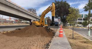 Comienza reconstrucción de la lateral en el bulevar Felipe Ángeles