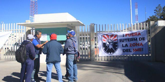 Se manifiesta SME en instalaciones de CFE en Pachuca