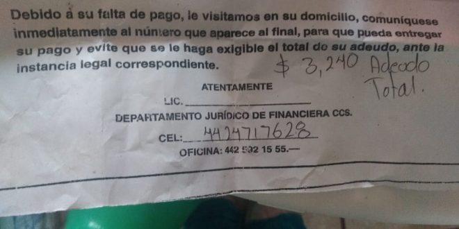 Acusan a usureros de amedrentar a clientes en Ixmiquilpan