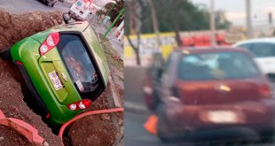 Dejan dos accidentes viales tres lesionados en Pachuca y La Reforma