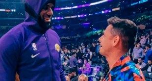 Le cumplen el sueño al Chicharito, ya conoció a LeBron James