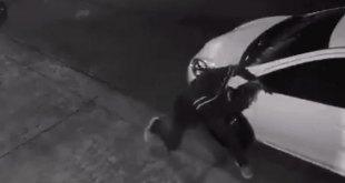 VIDEO: Ladrón desvalija auto en solo 40 segundos