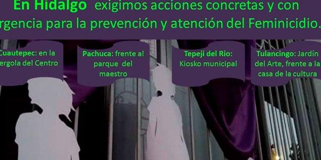 Convocan hoy a marcha en Hidalgo contra feminicidios